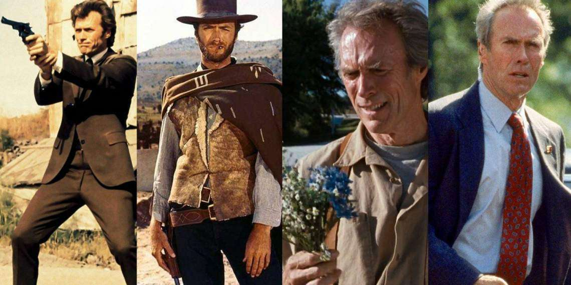 (kiri ke kanan) Dirty Harry; The Good, The Bad and The Ugly; The Bridges of Madison County; In the Line of Fire